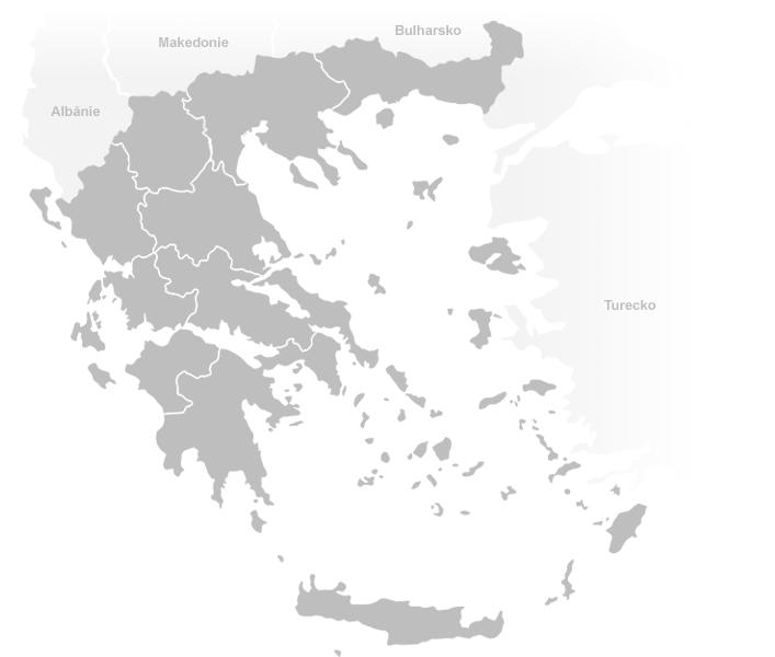 Řecko mapa